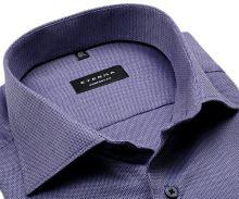 Koszula Eterna Comfort Fit – z drobnym fioletowym wzorem