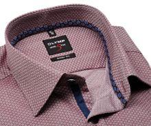 Koszula Olymp Level Five – czerwona z wyszytym wzorem i niebieską wewnętrzną plisą