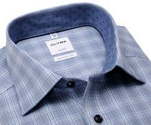 Koszula Olymp Luxor Comfort Fit - niebiesko-beźowa w kratkę