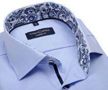 Koszula Casa Moda Comfort Fit Premium – jasnoniebieska ze strukturą i kołnierzykiem wewnętrznym