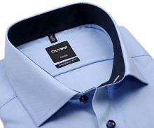 Koszula Olymp Modern Fit Natté – jasnoniebieska wewnętrzną stójką i mankietem - extra długi rękaw