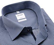 Koszula Olymp Comfort Fit – z wzorem w dwóch odcieniach niebieskiego