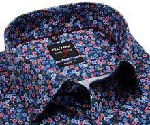 Koszula Olymp Level Five – designerska kolorowa - krótki rękaw