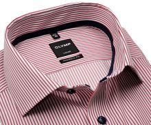 Koszula Olymp Modern Fit – w czerwone prążki - krótki rękaw
