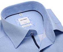Koszula Olymp Comfort Fit – jasnoniebieska w drobne kropki - krótki rękaw