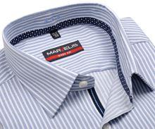 Koszula Marvelis Body Fit – w niebieskie paski z wewnętrzną plisą - extra długi rękaw