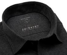 Koszula Olymp Modern Fit 24/Seven – antracytowa elastyczna