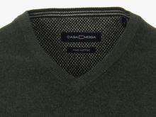 Bawełniany sweter Casa Moda – oliwkowy (ciemnozielony)