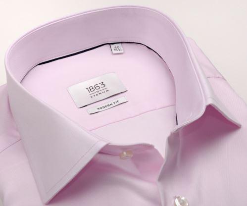 Koszula Eterna 1863 Modern Fit Twill - luksusowa różowa