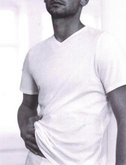 Bílé jemné bavlněné tričko eterna s krátkým rukávem – V-výstřih