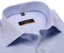 Koszula Eterna Slim Fit Twill - luksusowa w jasnoniebieski wzór