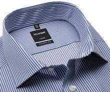 Koszula Olymp Modern Fit Twill – w ciemnoniebieskie paski - extra długi rękaw