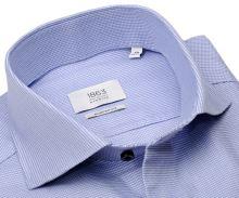 Koszula Eterna 1863 Modern Fit Two Ply - luksusowa z wyszytym niebieskim wzorem