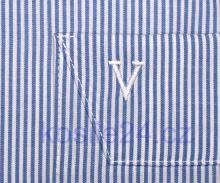 Koszula Marvelis Modern Fit - biała w jasnoniebieskie prążki