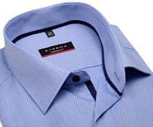 Koszula Eterna Modern Fit – jasnoniebieska z wplecionym wzorem - krótki rękaw