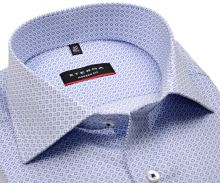 Koszula Eterna Modern Fit - z niebieskim wzorem - extra długi rękaw
