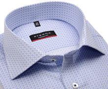 Koszula Eterna Modern Fit - z niebieskim wzorem - krótki rękaw