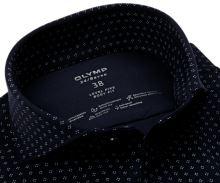Koszula Olymp Level Five 24/Seven – ciemnoniebieska luksusowa elastyczna z białym wzorem
