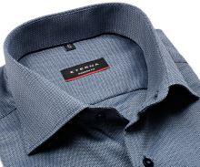 Koszula Eterna Modern Fit – z drobnym wzorem w stalowoniebieskim - super długi rękaw