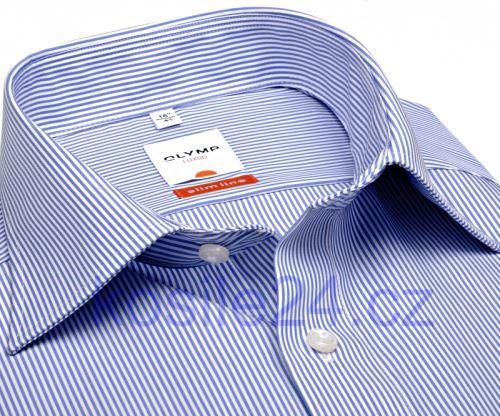 Koszula Olymp Luxor Modern Fit - w wąskie prążki indygo