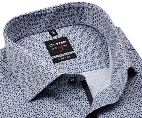 Koszula Olymp Level Five – z szarymi ornamentami