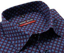 Koszula Marvelis Body Fit – z czerwono-niebieskimi pierścieniami - extra długi rękaw