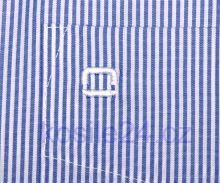 Koszula Olymp Luxor Comfort Fit - wąskie prążki w kolorze indygo