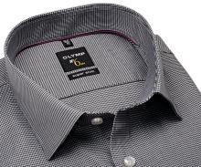 Koszula Olymp Super Slim – czarno-biała z wyszytym wzorem