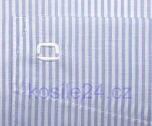 Koszula Olymp Luxor Modern Fit - w jasnoniebieskie prążki - extra długi rękaw