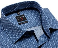 Koszula Olymp Level Five – szaro-niebieska w kropki - extra długi rękaw