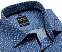 Koszula Olymp Level Five – szaro-niebieska w kropki - krótki rękaw