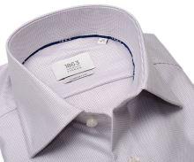 Koszula Eterna 1863 Comfort Fit Two Ply - luksusowa z delikatnym wzorem w kolorze wina