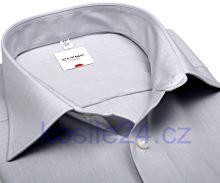 Koszula Olymp Luxor Comfort Fit Chambray - jasnoszara - krótki rękaw