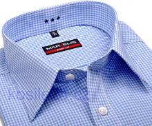 Koszula Marvelis Body Fit Uni – biała w jasnoniebieską kratkę