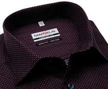 Koszula Marvelis Comfort Fit - granatowa z czerwono-białym nadrukowanym wzorem