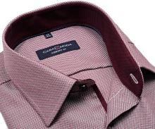 Koszula Casa Moda Comfort Fit Premium – z czerwonym wzorem, wewnętrzną stójką i mankietem