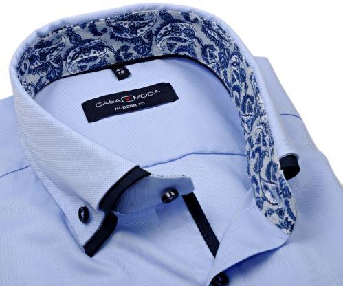 Koszula Casa Moda Modern Fit – jasnoniebieska z podwójnym kołnierzem - super długi rękaw
