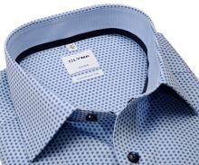 Koszula Olymp Luxor Comfort Fit – jasnoniebieska z niebieskim wzorem - krótki rękaw