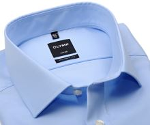 Koszula Olymp Modern Fit Twill – jasnoniebieska luksusowa i nieprześwitująca z diagonalną strukturą