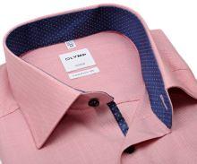 Koszula Olymp Comfort Fit – jasnoczerwona z wewnętrzną stójką i mankietem - extra długi rękaw