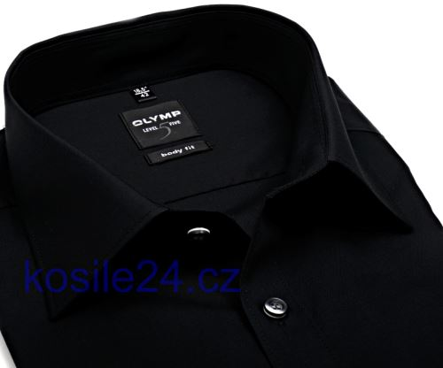 Koszula Olymp Level Five – czarna - extra długi rękaw