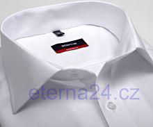 Koszula Eterna Modern Fit Uni Popeline - biała z podwójnymi mankietami