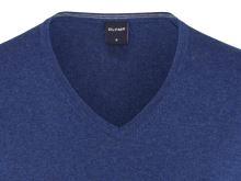 Luksusowy sweter Olymp - bawełna - jedwab - kaszmir - niebieski