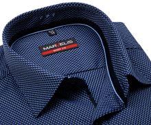 Koszula Marvelis Body Fit – niebieska w wzór kaskady z wewnętrzną plisą - extra długi rękaw