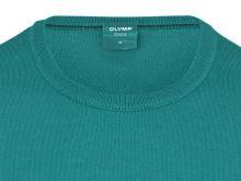 Sweter Olymp z wełny Merino - okrągły dekolt - zielony