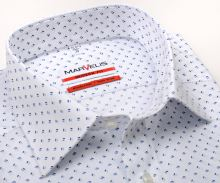 Koszula Marvelis Modern Fit – biała w niebieski wzór