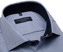 Koszula Casa Moda Comfort Fit Premium – granatowo-biała z ciemnoniebieską wewnętrzną stójką