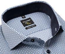 Koszula Olymp Super Slim – w niebieskie trójkąty i z wewnętrzną stójką