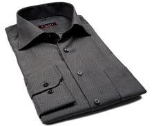 Koszula Eterna Modern Fit – z drobnym czarno-szarym wzorem - extra długi rękaw