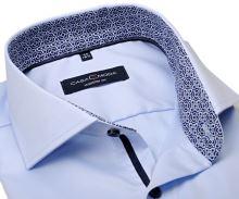 Koszula Casa Moda Modern Fit Twill – jasnoniebieska z niebiesko-białą wewnętrzną stójką i mankietem